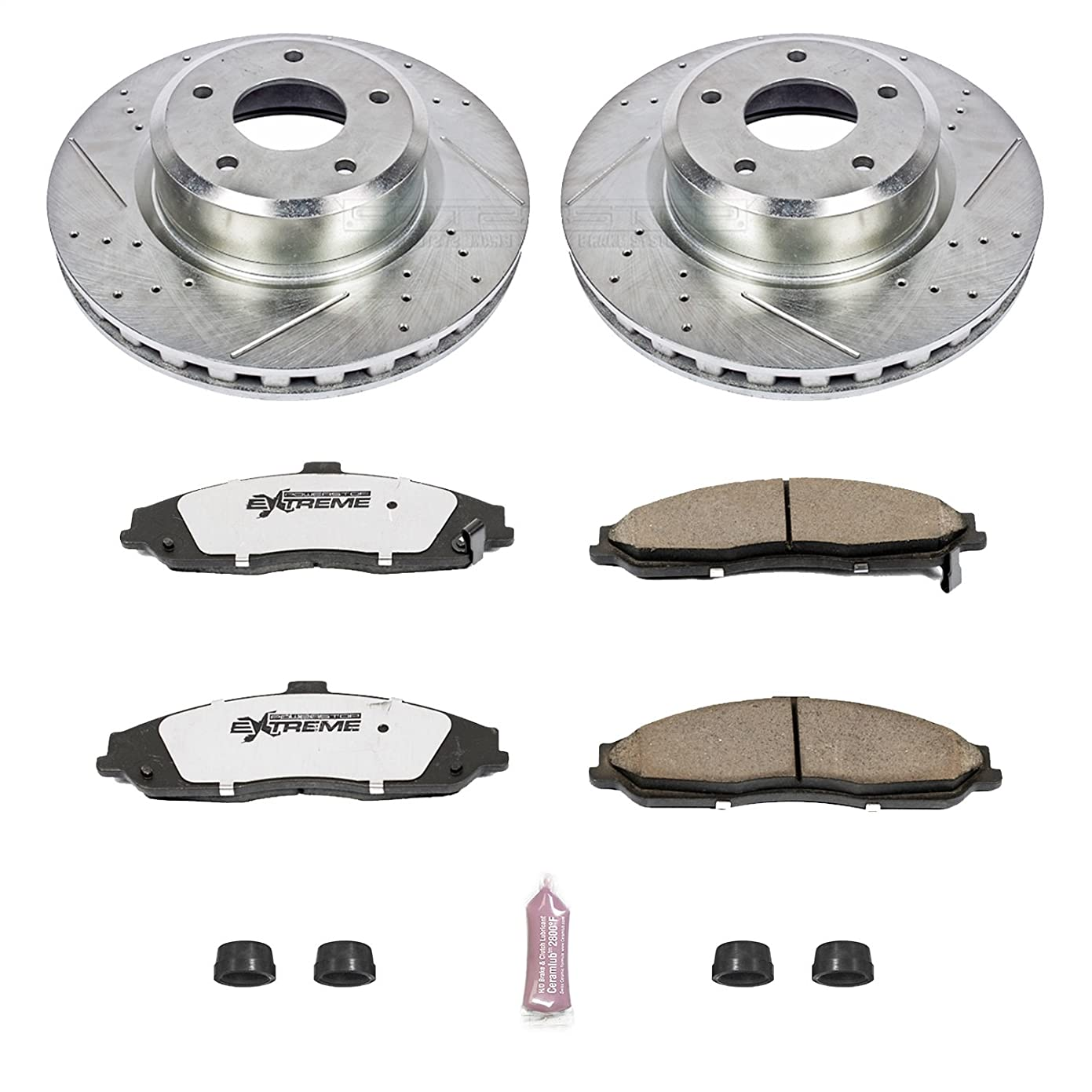 Power Stop K2912-26 1-Click Street Warrior Z26 Brake Kit aa15228428