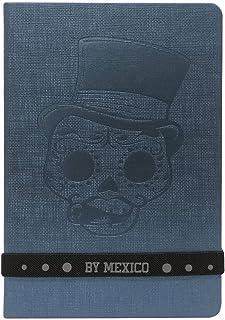 By Mexico, Cuaderno Clásico, Hojas rayada Grabada modelo Catrin Florencio 80 hojas