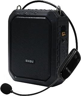 A prueba de agua inalámbrico Amplificador de voz Altavoz Bluetooth,Auricular Amplificador de micrófono Sistema de megafonía portátil Megáfono de 18 vatios para exteriores, profesores, instructores