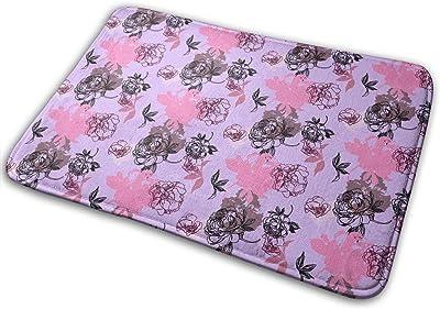 Bohemian Flowers Carpet Non-Slip Welcome Front Doormat Entryway Carpet Washable Outdoor Indoor Mat Room Rug 15.7 X 23.6 inch