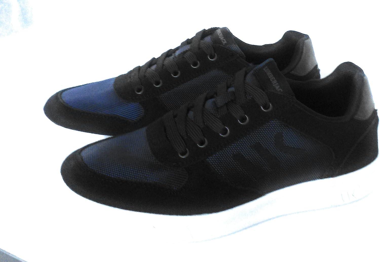 Lumberjack shoes SM30005 Man bluee Sneaker Leather bluee Logo Casual