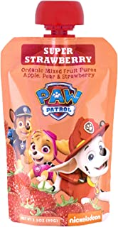 Paw Patrol Super Strawberry Organic Mixed Fruit Squeeze Pouch, 3.5 Ounce, Pack of 10