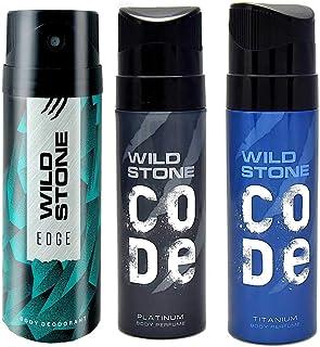 Wild Stone Edge, Platinum and Titanium, Deodorant and Perfume Body Spray For Men,390 ml