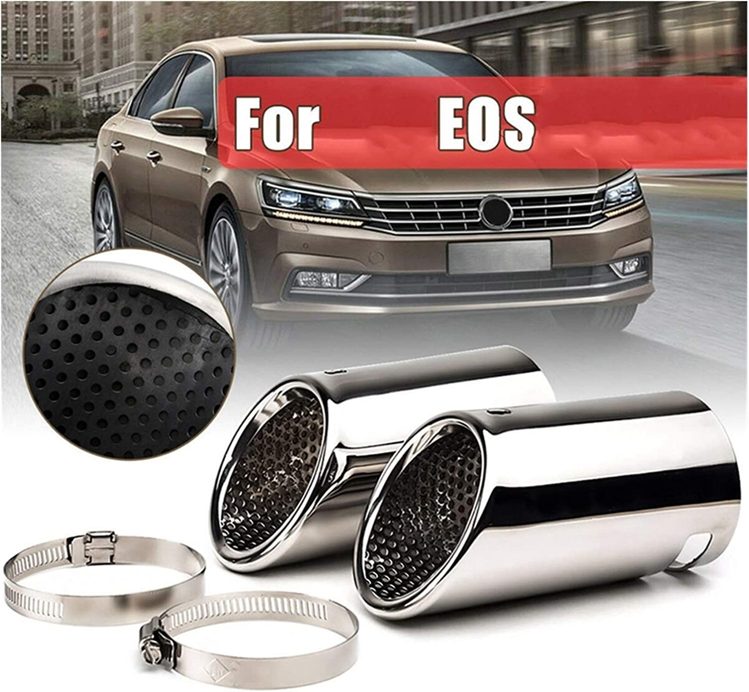 WRDD Exhaust Tail Tip Rear Dua Stainless Steel Pipe Super beauty product restock Seattle Mall quality top