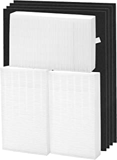 KEYJINIU HEPA Filter R 3 Pack Set and 4 Pack Activated Charcoal Pre Filters for HPA300, Replacements for Honeywell Filter ...