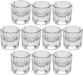 DORUS 10 Nail Art Acrylic Liquid Powder Dappen Dish Glass Crystal Cup Glassware Tools