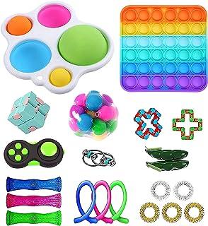 بسته های اسباب بازی Fidget ، مجموعه اسباب بازی های Fidget 21 عددی ، اسباب بازی های حسی با گودی حباب ، بسته اسباب بازی Fidget جشن تولد برای بزرگسالان