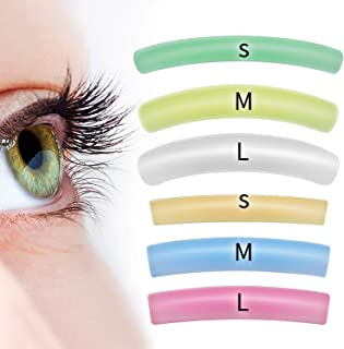ICONSIGN 6 Different Sizes Lash lift Silicone Pads(Flat&Curl eye patch 12 PCS Size: S M L)
