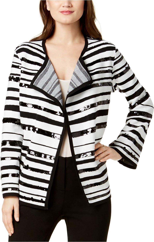 Alfani Womens SequinEmbellished Cardigan Sweater