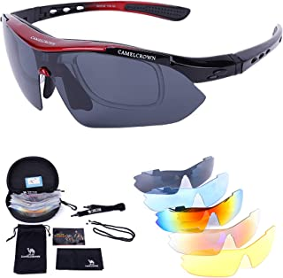 Sports Sunglasses Polarized UV400 Protection with 5...
