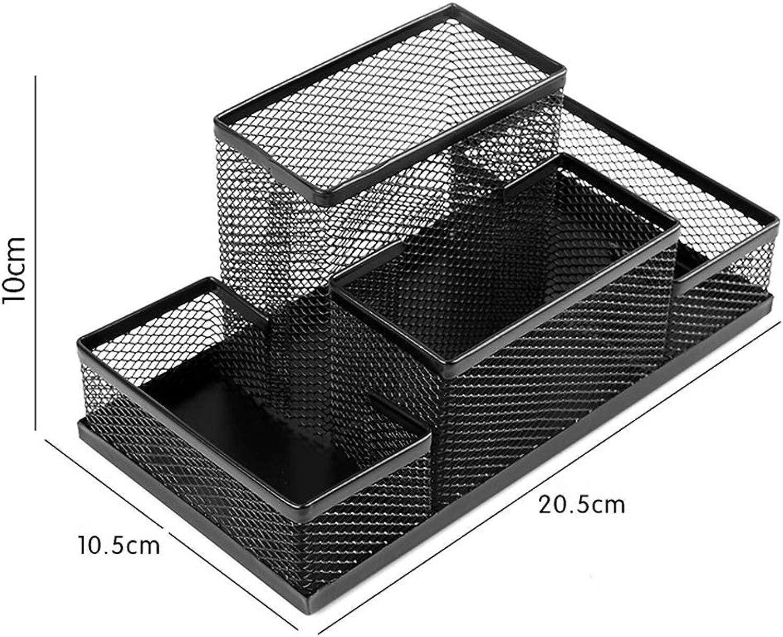 CWT-Storage Box Schreibwaren-Aufbewahrungsbox Eisengitter Multifunktions-Schreibwaren-Aufbewahrungsbox Desktop-Aufbewahrungsbox Große Eimerkette (Farbe   A) B07Q8627HY | Angemessene Lieferung und pünktliche Lieferung