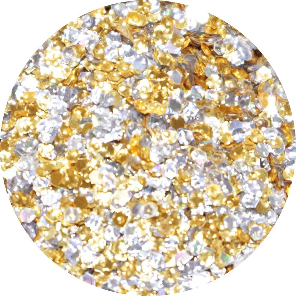 変色するペルソナ長さMATIERE エンボスホログラム ゴールド×シルバー