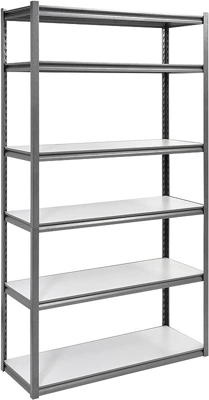 Muscle Rack UR4818HPSVL6 Boltless Storage Rack With 6 Shelves 3000 Lb Capacity 48 Width X 84 Height X 18 Depth Silvervein