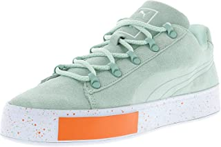 x DP Court Platform SS Round Toe Suede Sneakers