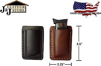 J&J Custom Premium Leather 380 Cal Single Stack Single Magazine Carrier Holder Holster W/Belt Clip