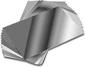 Elcoho 16 Pack School Mirrors Plastic Mirror Decor Flexible Mirror Sheets Self Adhesive Mirror Tiles Silver Mirror Board C...