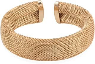 Best mens gold mesh bracelet Reviews