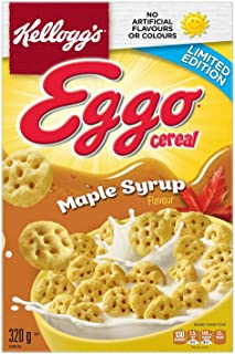Kellogg's Eggo Maple Syrup Cereal 320g/11.3 oz box {Imported from Canada}