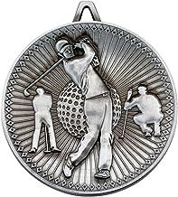 Lapal Dimension Golf Deluxe medaille - antiek zilver 2,3 inch Pack van tien
