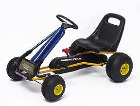 Go-Kart con Pedales y Ruedas Coches Niños a Pedales Aprovado por Norma EN 71 Asiento Ajustable y Freno de Mano