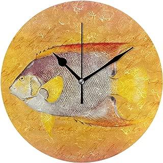 MIKA掛け時計 時計 壁掛け おしゃれ ギフト お誕生日 お礼 祝い 結婚祝い 引越し祝い 退職祝い お返し 贈り物 入学祝い ヴィンテージ ハワイ 天使 魚-旧式 ハワイ