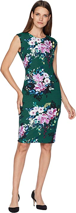 Extended Cap Bodycon Print Dress