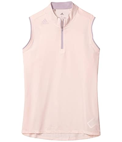 adidas Golf Gradient Zip Sleeveless Polo Shirt (Pink Tint) Women