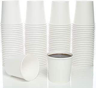 4 Oz. White Paper Hot Coffee Cup For Espresso, Nespresso, Lavazza, Sampling Cup 100 Pack