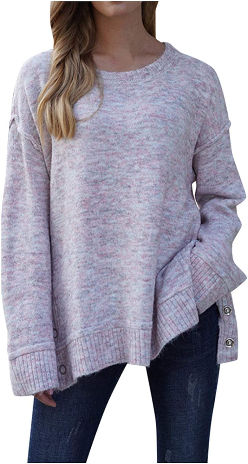 At the price POTO Womens Pullover Sweatshirt Long Sweater Loo Sleeve Crewneck Max 78% OFF