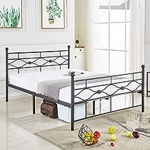 DIKAPA Queen Size Bed Frame, Metal Platform Mattress Foundation/Box Spring Replacement with Black Top Ball Headboard,Premium Steel Slat Support,Five Year Warranty