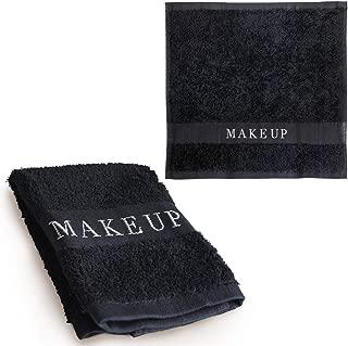 The Little Black Towel Makeup Remover Cloth (1 Pack) Plush Washcloths for Gentle Face Wash & Removing Eye Liner & Mascara, plus Foundation Eraser w/ Bleach Resistant Cotton & Soft Jacquard Lettering