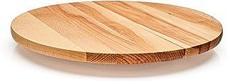 Lazy Susan - Tabla giratoria de madera maciza de haya utilizada para servir queso, aperitivo, antipasti, madera, Diameter 40 cm