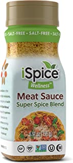 iSpice - Salt-Free | Sugar free | 100% Pure Wellness Meat Sauce Seasoning Blend | All Natural | Ready to use as is | No pr...