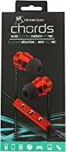 Mobile Spec Chords Noise Isolating Earbuds w/Mic Red