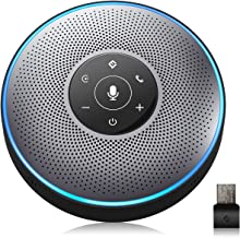 Bluetooth Speakerphone – eMeet M2 Gray Conference Speaker w/Dongle, Idea for Home..