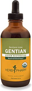 Herb Pharm Certified Organic Gentian Liquid Extract for Digestive Support - 4 Ounce