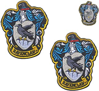 Ravenclaw Hogwarts Crest Patch Full Color Iron-On Patches Applique Replacement for Harry Potter House of Ravenclaw 3.94
