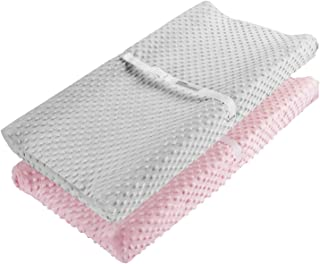 Changing Pad Cover, AceMommy Ultra Soft Minky Dots Plush Changing Table Covers Breathable Changing Table Sheets Wipeable D...