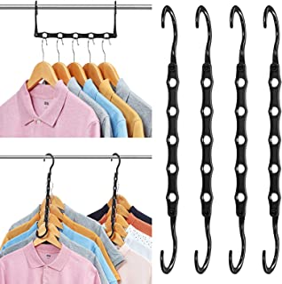 AMKUFO 6 Pack Magic Hangers Space Saving Hangers Closet Space Saver Hanger Organizer Multi Hangers Sturdy Plastic for Heavy Clothes