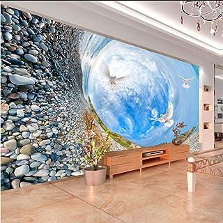Hwhz Custom 3D Mural Wallpaper Hd Paisaje Cielo Azul Nubes Blancas Sala De Estar Tv Telón De Fondo Dormitorio Papel Tapiz De Fotos 3D Decoración Para El Hogar-280X200Cm