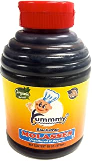 Yummmy Kosher Blackstrap Molasses 16 Oz., Organic and Unsulfured, Sold by weight (10 fl oz=1 lb molasses)