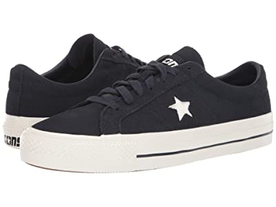 Converse Skate One Star Pro Rubber Backed Suede Ox (Dark Obsidian/Egret/Egret) Shoes
