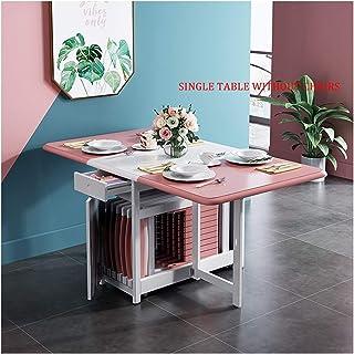 Table De Salle À Manger Pliante, Multifonctionnel Grande Capacité Table À Manger, avec Chaise De Salle À Manger Table à Ma...