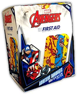 "Marvel Avengers Bandages 100CT, 3/4""x3"" (Ironman, Captain America, Black Panther)"