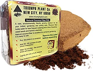 Triumph Plant Coco Coir Bricks - A Natural Additive to Potting Soil for Potted Plants & Gardens- Coconut Coir is a Sustainable Alternative to Peat Moss -8 lbs