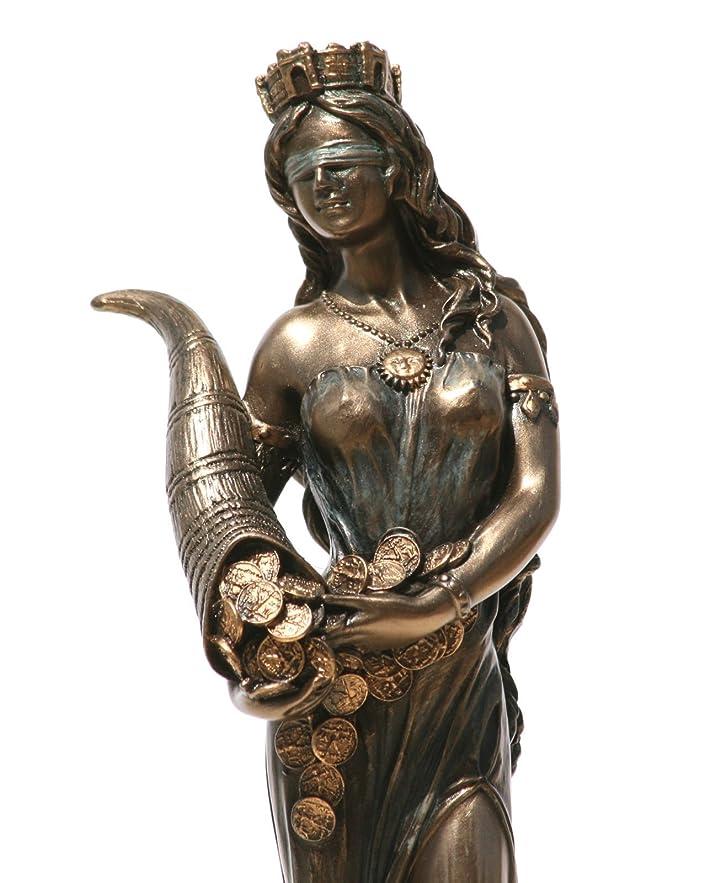 レールモロニック揺れるGoddess Fortune Tyche Luck Fortuna Statue Sculpture Figurine 7.28?