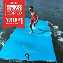 FloatDaddy 3-Ply Foam Lake Swim Mat Super Island | 6 x 16 | Cyan/Blue