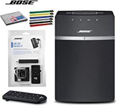 Bose SoundTouch 10 Wireless Music System (Black) Bundle with Ceiling Bracket, Cable Ties and Cleaning Kit