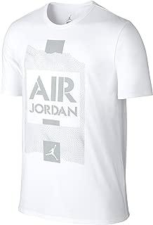 NIKE Men's AJ V Stencil Tee White/Grey 658558-100