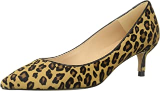 L.K. Bennett Women's Audrey Haircalf Leopard Print Pointed Toe Kitten Heel Court Shoes Pump
